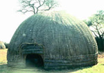 A bee-hive hut in the royal enclosure at the Old Bulawayo